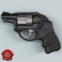 Revolver Ruger LCR Low Poly