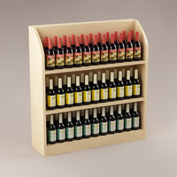 3d bottles shelf model