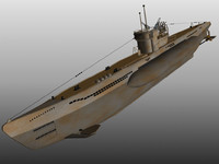 3d model u-boat submarine