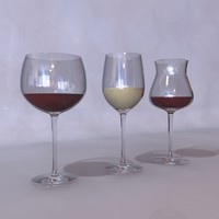 free 3ds mode wine glasses
