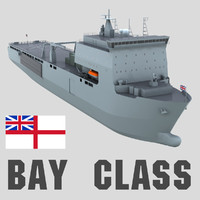 royal navy bay class 3d max