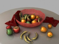 3d model fruits dish