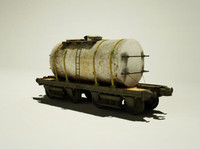 3d model old car milk