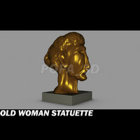 3ds max old woman statuette