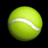 C4D Tennis Ball with Realistic fuzz