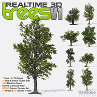 Realtime 3D Trees V1 - 8 Pack