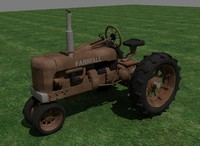 3d model farmall tractor rust