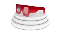 paper glasses anaglyph 3d c4d
