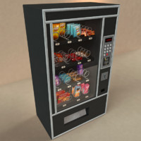 vending machine snacks candy 3d model