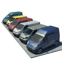renault trafic 3d model