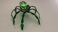 3d spider mech model