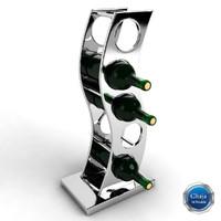 3d model wine rack
