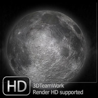 moon hd suported render 3d model