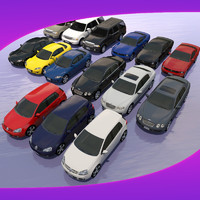 3d normal mapped car 5 model