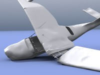 3d wreck plane model