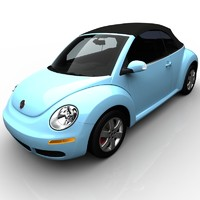 3d model volkswagen beetle convertible