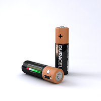 aa duracell battery 3d model