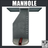 manhole man hole 3d model