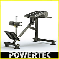 max powertec p-hc10 dual hyperextension