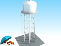 3ds max water tank