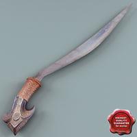 talibon sword 3d model