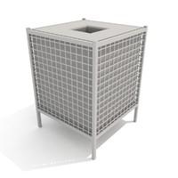 3dsmax trash receptacle tile