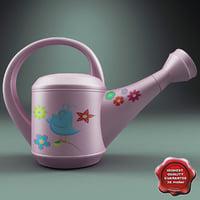 watering pink 3d model