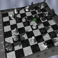 3d model chessboard gargoyles board
