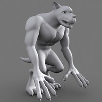 maya monster dog character cartoon
