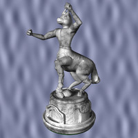 gargoyle chess knight 3d model