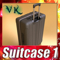 Wheeled Travel Bag - Suitcase 01 - High Detailed.