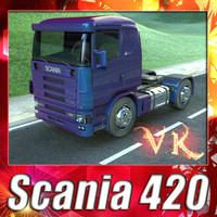 3d truck scania 420 -
