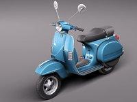 c4d vespa 150 scooter 2011