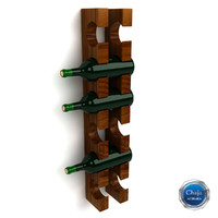 3d model of wine rack