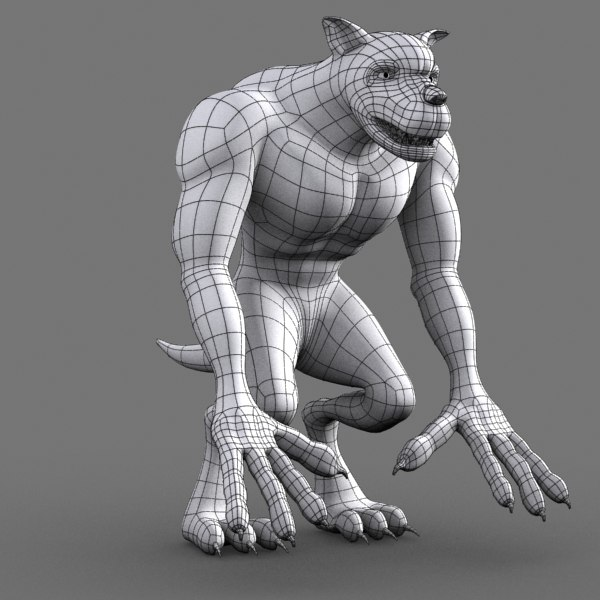 Maya monster dog character cartoon for Monster 3d model
