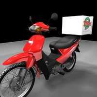 moto delivery 3d model