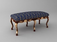 baroque style bench 3d max