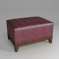 maya ottoman leather