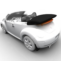 3d model volkswagen beetle convertible accessories