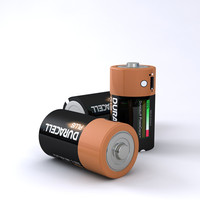 3d model c duracell battery