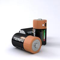 3d model c duracell battery