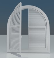 3d italian window model