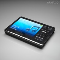 free creative zen media player 3d model