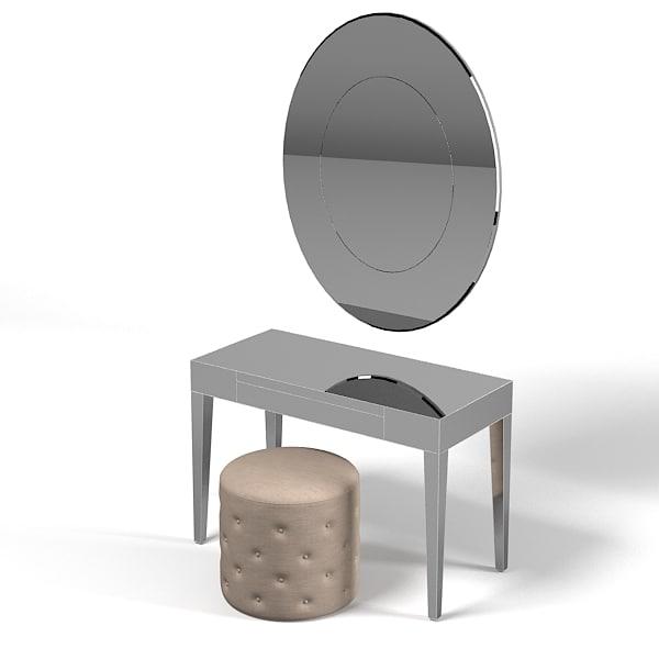 3d model porada beauty mirror for Porada beauty dressing table