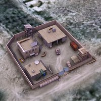 3d afghan police compound base model