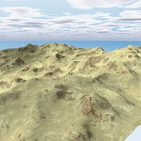 c4d terrain landscape mountains environment
