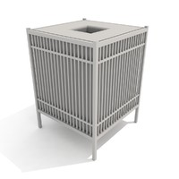 3d trash receptacle grill