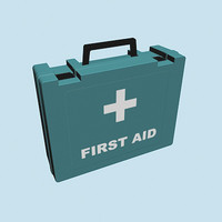 3d model low-poly aid kit