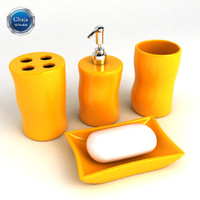 3d bathroom accessories bath model