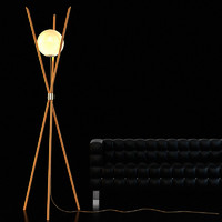 3ds max wooden floor lamp 10